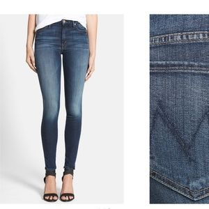 Mother Denim High-Waisted Looker Skinny Jeans 25